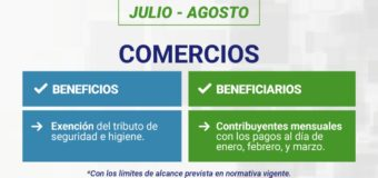 Malvinas Argentinas dispone nuevas medidas de alivio fiscal para sectores afectados por la pandemia